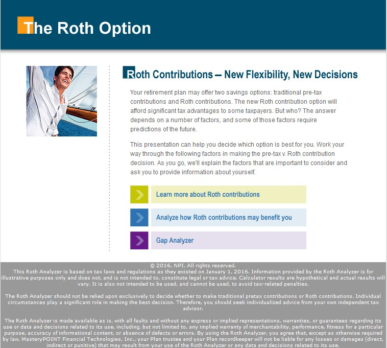 Roth Analyzer